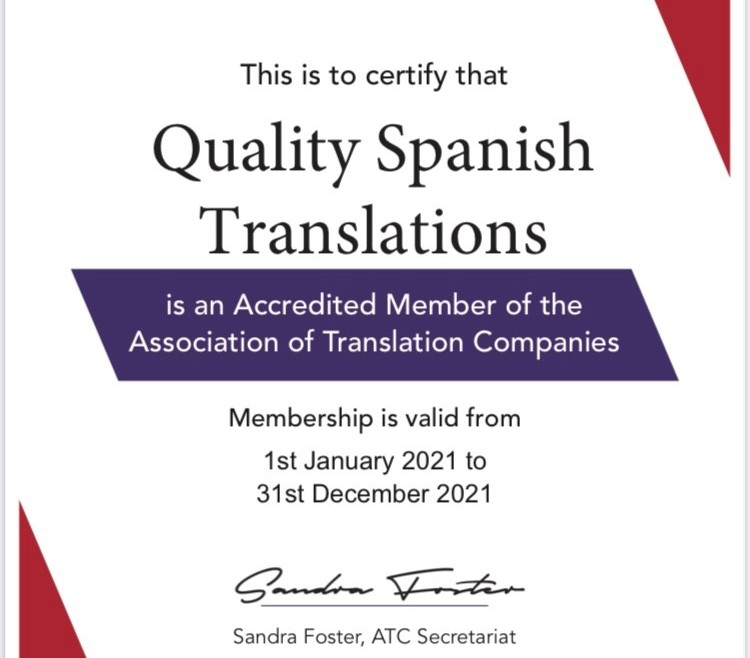 Accredited Member of the ATC